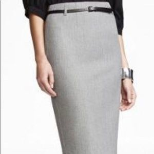 Express Belted High Waist Pencil Skirt